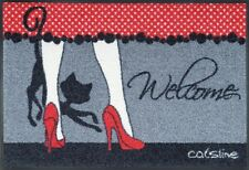 Waschbare Fußmatte Catsline Glam - Katze ca 50x75 cm Wash+Dry Fußabstreifer