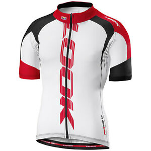 LOOK Pro Team Short Sleeve Men's Cycling Jersey (White-red)