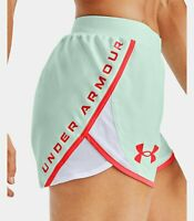 Under Armour Women's UA Fly By 2.0 Stunner Shorts Seaglass 1356199-403 NWT