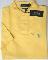 NEW $89 Polo Ralph Lauren Short Sleeve Classic Fit Shirt Mens Yellow Mesh NWT