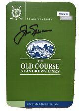 JACK NICKLAUS - GOLF - ST.ANDREW'S SCORECARD WITH ORIGINAL SIGNATURE & COA