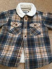 Next Baby Boy Checked Warm Shirt 9-12 Months Lumberjack Fleece Collar Padded