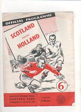 1958 amateur International Scotland V HOLLAND 14th mai 1958 @ Hampden Park