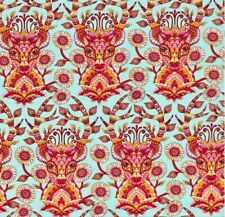 OOP Tula Pink - MOON SHINE - Deer Me Strawberry 100% cotton Fabric