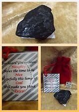 Novelty Lump Of Coal Santa Red Sack Naughty or Nice Secret Santa Christmas Gift