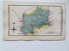 Middlesex Mappa-ANTIQUARIATO = in miniatura-ORIG col-S. HALL data 1833 per LEIGHS ATLAS
