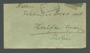 WWI Ottoman Empire GALATA 1915 to Haifa Palestine Cover