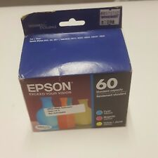 Epson 60 T060120-BCS Ink Cartridges Combo Pack cyan magenta yellow new