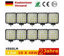 10 x48W LED Arbeitsscheinwerfer Offroad Scheinwerfer Traktor  SUV 12V Headlight