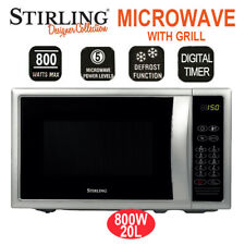 Stirling  20L Microwave with Grill Oven 800W 9 Programs 5 Power Levels AU