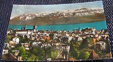 Switzerland Lausanne Vue Generale et les Alpes - posted 1960