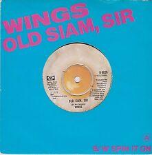 Wings (Paul McCartney) (Beatles) Old Siam, Sir / Spin It On UK 45 W/ Pic Sleeve