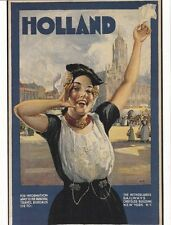 "*Postcard--AD--Holland...""Girl Advertising Railways""    ...Classic"