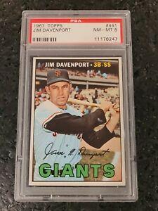1967 Topps Jim Davenport #441 Giants PSA 8 NM-MT