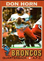 Custom made Topps 1971 Denver Broncos Don Horn football card