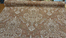 Swavelle Chenille Kalibab Autumn Damask Fabric By The Yard