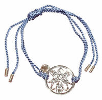 Truth Argent Sagesse Cordon Bracelet (Bleu)