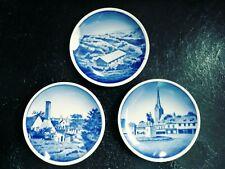 3.5in Trio Of Danish Plates Featuring 3 Danish Towns 2010