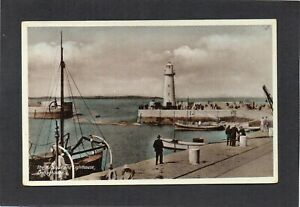 DONAGHADEE - The Harbour and Lighthouse, Co.Down, N.Ireland.  RPPC.