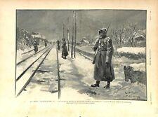 Russie Mort Tsar Alexandre III Chemin de Fer Moscou St-Petersbourg GRAVURE 1894