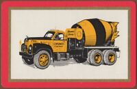 Playing Cards Single Card Old CONSUMERS COMPANY Advertising CEMENT MIXER TRUCK 1
