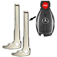 2 New Smart Remote Key Keyless Replacement Uncut Blade Blank For Mercedes Benz