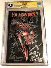 CGC SS 9.8 Halloween #1 Variant signed by Curtis, Carpenter, Castle, Soles +14