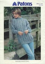 "PA5051B femmes dk câblés sweater knitting pattern 30-40""/76-102cm"