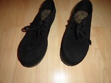 Vans, black suede shoes unisex, size 8 in men, size 9.5 in women