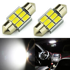 JDM ASTAR 2x White 31MM 5730 SMD DE3175 3022 LED Festoon Interior Map Dome Light