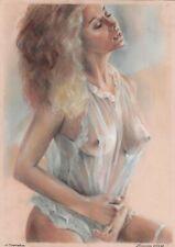 original drawing A3 96ShN art by samovar modern pastel female nude 2020