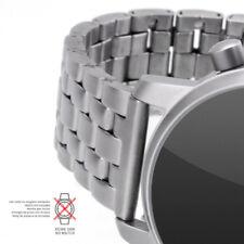 EDELSTAHLBAND Uhrenarmband matt / satiniert 20 mm Anstoß gerade 5 Knoten
