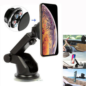 Magnetic Car Mount Holder Windshield Dashboard Suction Mount Cell Phone GPS Bu