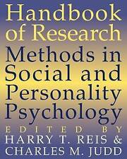 NEW Handbook of Research Methods in Social and Personality Psychology