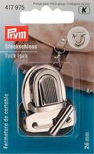 Prym Steckschloss 26x35 mm silber 417975