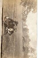 Antique RPPC St. Louis Forest Park Flapper Girl Stockings Cars 1920s Postcard