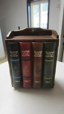 Vintage Faux Library Book Whiskey & Shot Glass Bar Set / Wood & Faux Book Chest