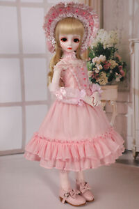 Pink Princess dress suit skirt For 1/3 1/4 1/6 SD BJD doll Clothes