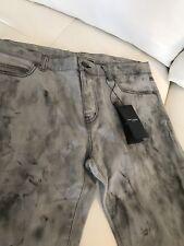 New $835 Saint Laurent (Hedi) Oil Spill Jeans