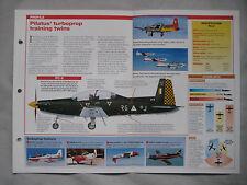 Aircraft of the World Card 79 , Group 5 - Pilatus PC-7/PC-9