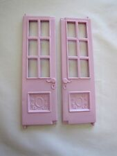 FISHER PRICE TWIN TIME Loving Family Dollhouse FRONT FRENCH DOORS Left Upper