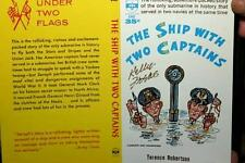 KELLY FREAS BOOK COVER PROOF SIGNED SHIP WITH TWO CAPTAINS TERRENCE ROBERTSON