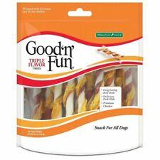 Good'n'Fun Triple Flavored Rawhide Twists Chews for Dogs