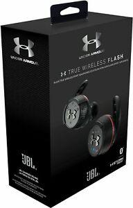 NEW JBL Under Armour Wireless Sport Headphones Earbuds True Flash In-Ear Black