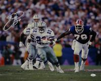 Emmitt Smith Signed Cowboys 16x20 Running Against Bills *White Photo- JSA W Auth