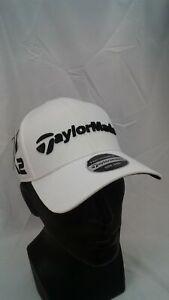 Men's TaylorMade Golf 2017 Tour Radar Adjustable Cap TR White M1 & M2 Logos
