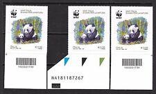 2016 - WWF ITALIA 50 anni NATURA PANDA TRITTICO - Codici barre e Codice AlfaNum.