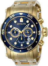 Invicta Men's Pro Diver Quartz Chrono 200m Gold Tone Stainless Steel Watch 23651