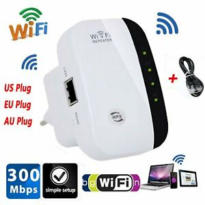 WiFi Signal Range Booster Wireless Network Extender 300Mbps Internet Repeater US