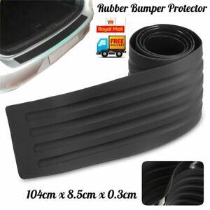 Car Rear Boot Trunk Bumper Protector Guard Trim Cover Chrome Sill Lip Rubber UK